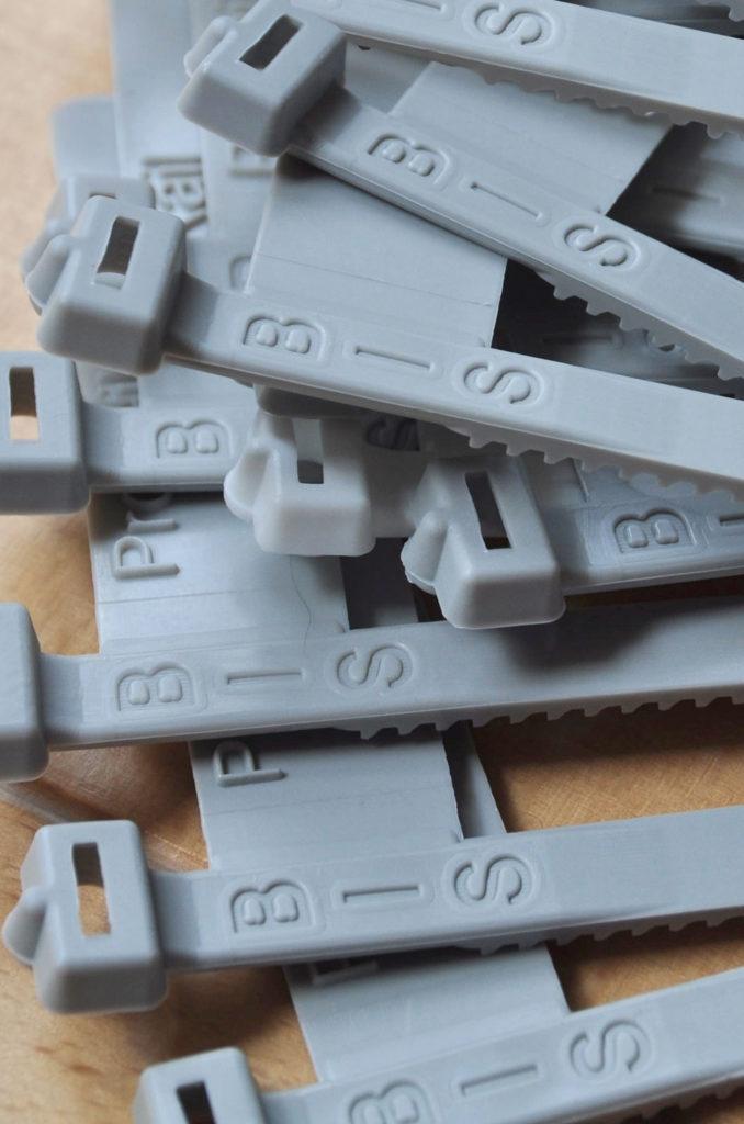 Kabelmerklabel grijs